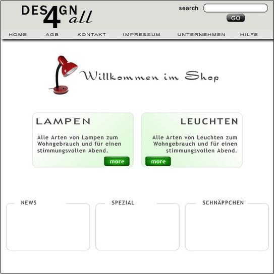 Symmetrische Website